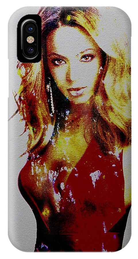 Beyonce IPhone X Case featuring the painting Beyonce Simply Me by Brian Reaves