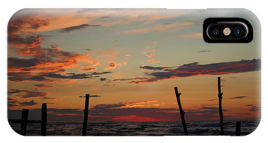 Ipperwash IPhone X Case featuring the photograph Beyond The Border by Barbara McMahon