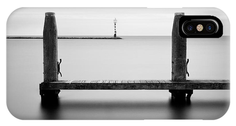 Boat Jetty IPhone X / XS Case featuring the photograph Beyond The Jetty by Dave Bowman