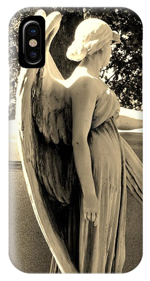 Angel IPhone X Case featuring the photograph Beyond The Veil by Cindy Fleener