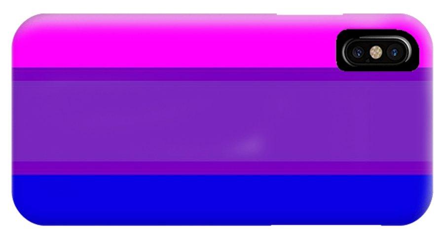Bi-pride IPhone X Case featuring the digital art Bi-pride Flag by Frederick Holiday