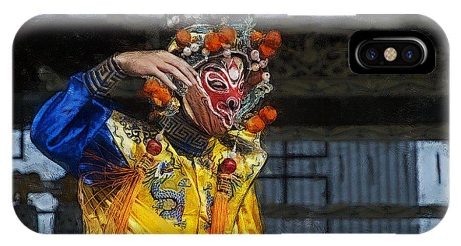 Bian Jiang IPhone X Case featuring the digital art Bian Jiang Dancer Color Drawing Hp by David Lange