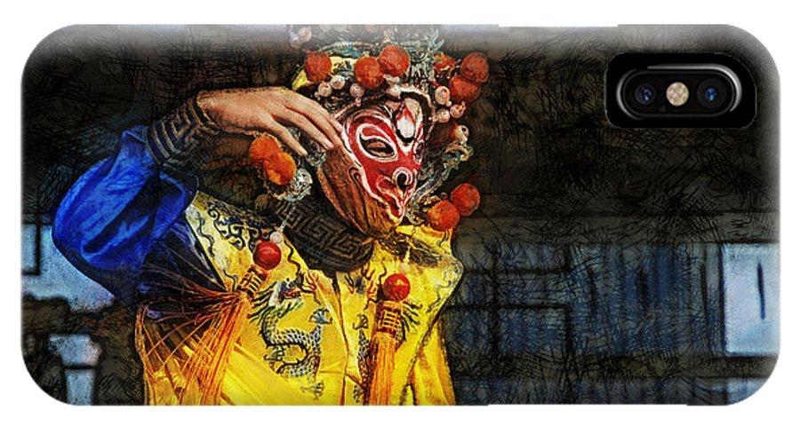 Bian Jiang IPhone X Case featuring the digital art Bian Jiang Dancer Lux Hp by David Lange