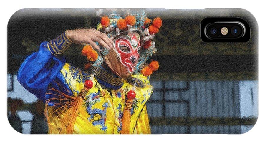 Bian Jiang IPhone X Case featuring the digital art Bian Jiang Dancer Pastel Chalk by David Lange