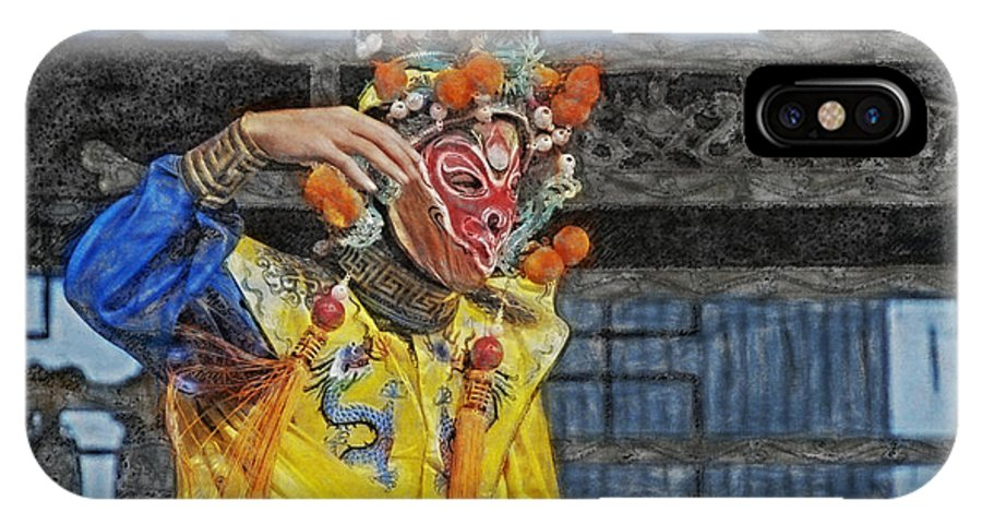 Bian Jiang IPhone X Case featuring the digital art Bian Jiang Dancer Sync Hp by David Lange