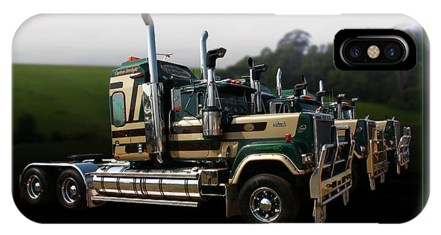 Trucks IPhone X Case featuring the photograph Bicentennial Macks by Keith Hawley