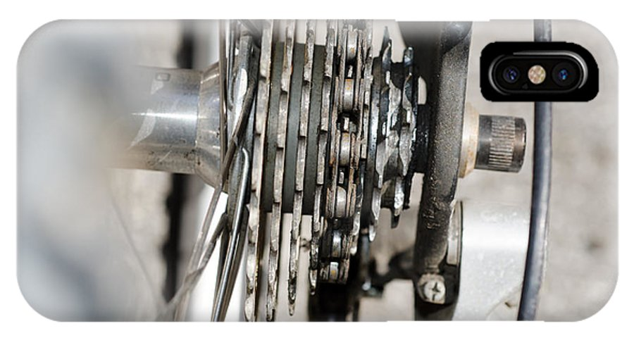 Bicycle IPhone X Case featuring the photograph Bicycle Cassette by Mats Silvan