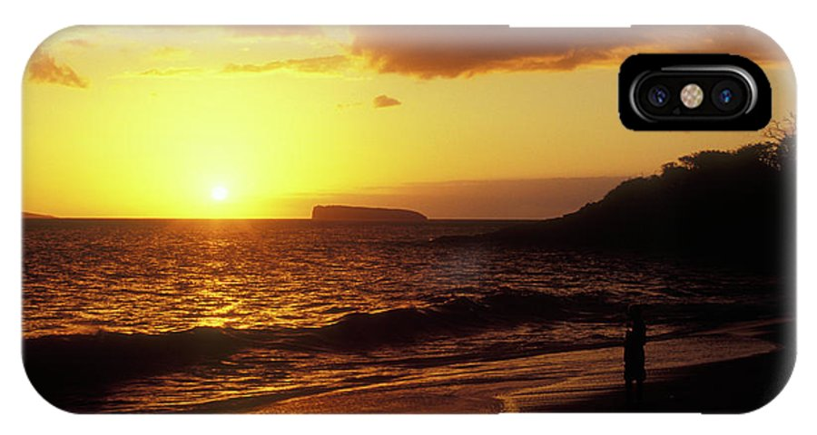 Hawaii IPhone X Case featuring the photograph Big Beach Sunset Maui Hawaii by John Burk