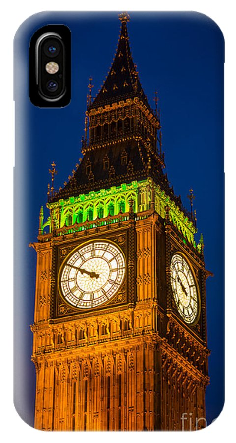 Big Ben IPhone X Case featuring the photograph Big Ben At Night by Inge Johnsson