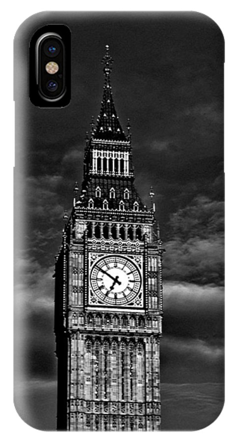 London IPhone X Case featuring the photograph Big Ben by M Bleichner