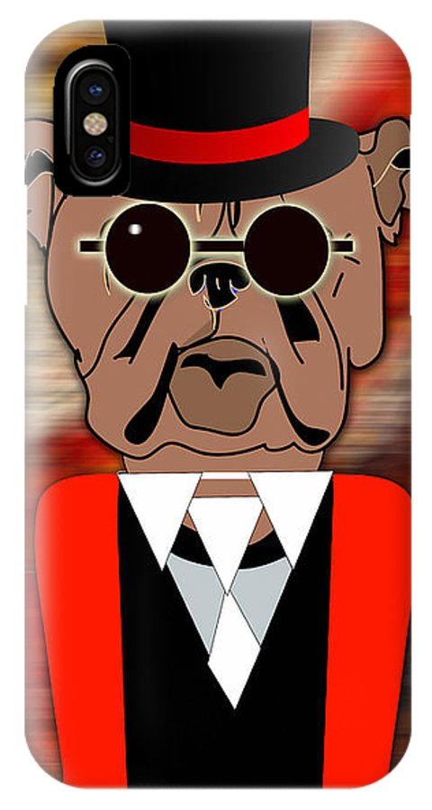 Bull Dog IPhone X Case featuring the mixed media Big Bull Dog by Marvin Blaine
