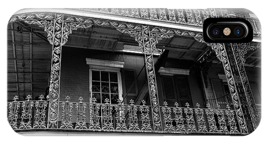 Big Easy Style IPhone X Case featuring the photograph Big Easy Style Mono by John Rizzuto