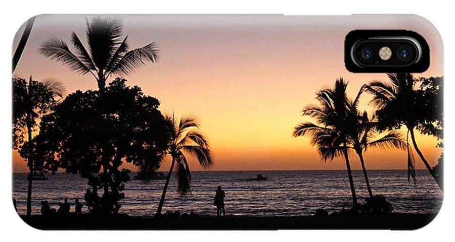 Big Island IPhone X Case featuring the photograph Big Island Hawaii Kona Red Sky by Joseph Semary