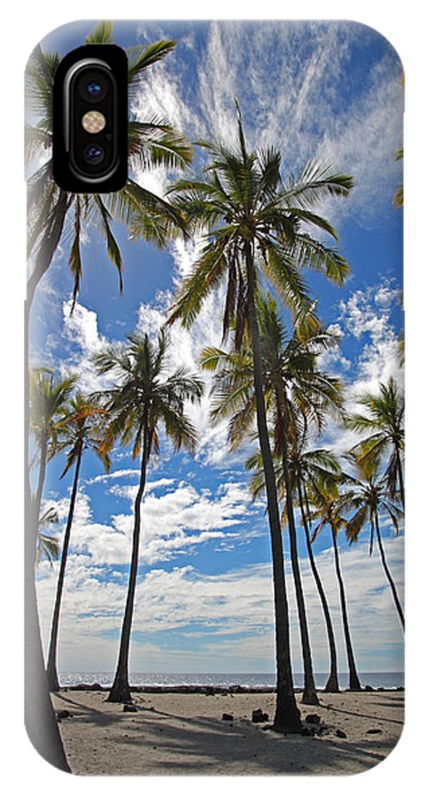 Big Island IPhone X Case featuring the photograph Big Island Hawaii Palm Stretch by Joseph Semary