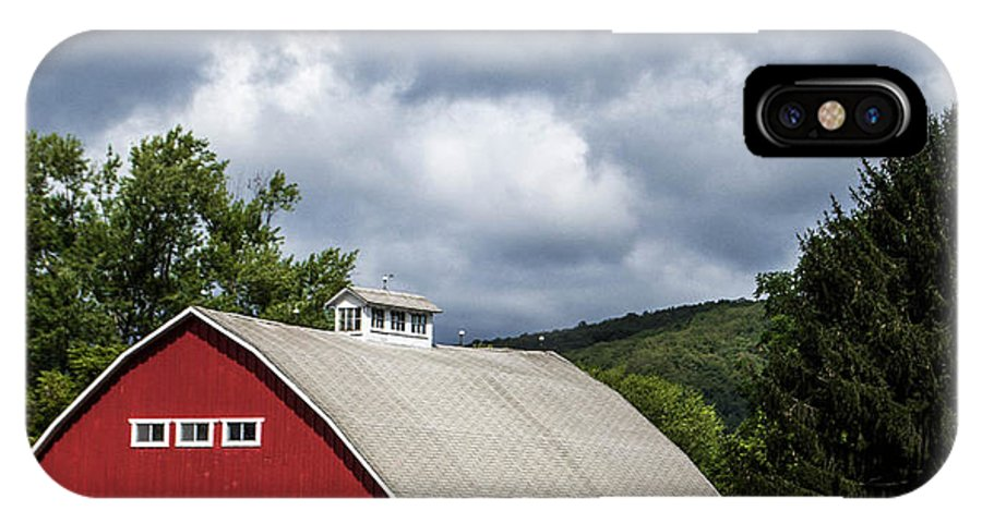 Barn IPhone X Case featuring the photograph Big Red Barn by Anthony Thomas