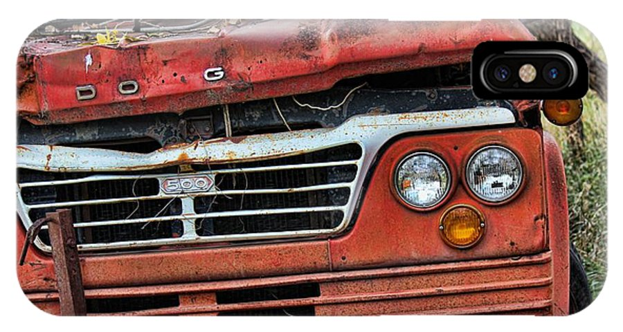 Truck IPhone X Case featuring the photograph Big Red Dog by Sylvia Thornton