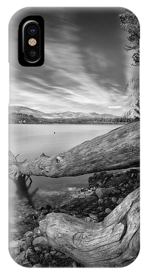 Mono IPhone X Case featuring the photograph Big Roots Time Traces by Guido Montanes Castillo