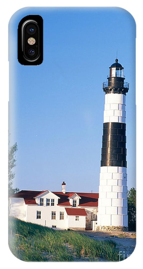 Lighthouse IPhone X / XS Case featuring the photograph Big Sable Lighthouse by David Davis