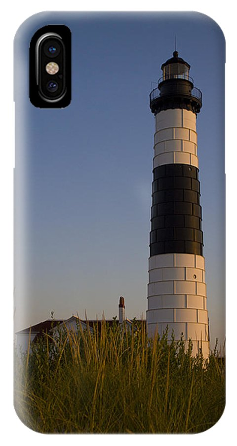 Lighthouse IPhone X Case featuring the photograph Big Sable by Megan Noble