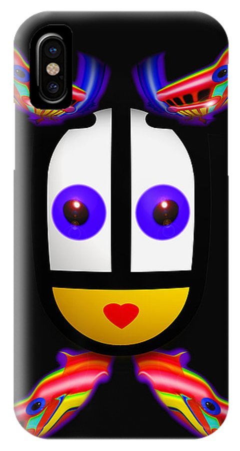 U Babe IPhone X Case featuring the painting Big Sister by Charles Stuart