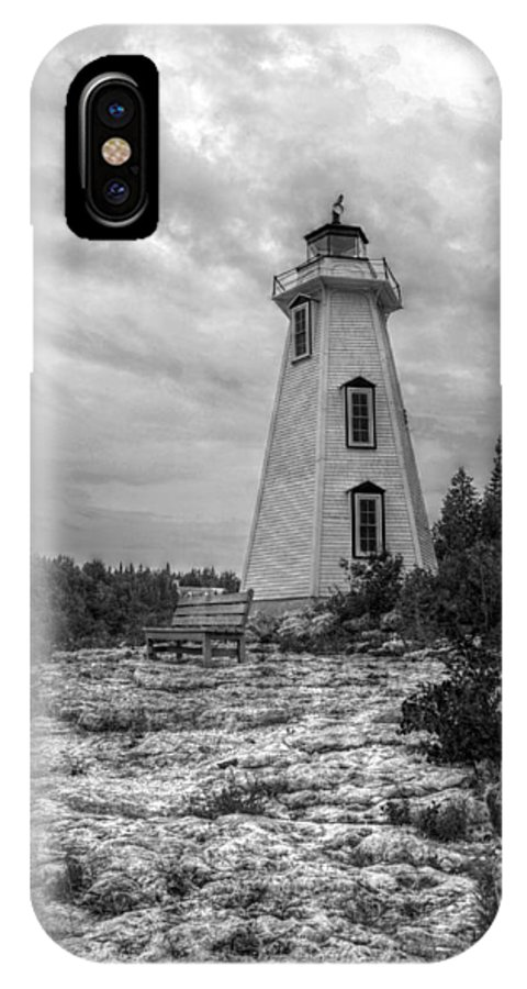 Lighthouse IPhone X Case featuring the photograph Big Tub Lighthouse by Brooke Nesbitt