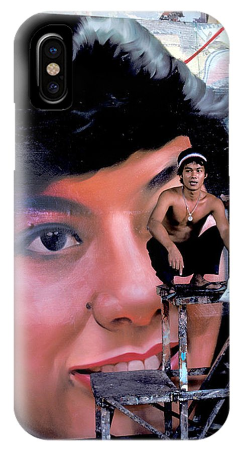 Artist IPhone X Case featuring the photograph Biggest Woman In Bangkok by Carl Purcell