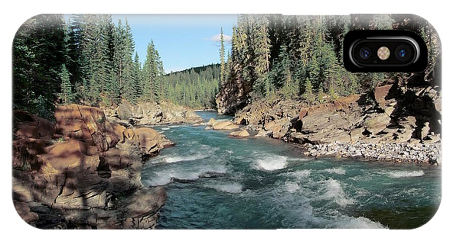 River IPhone X Case featuring the photograph Trout Stream 002 by Philip Rispin
