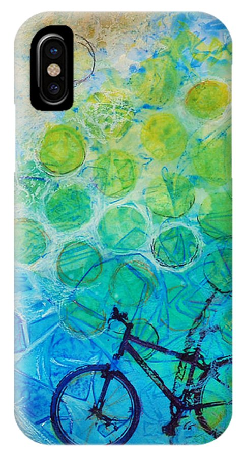 Bike IPhone X Case featuring the painting Bike by Arlissa Vaughn