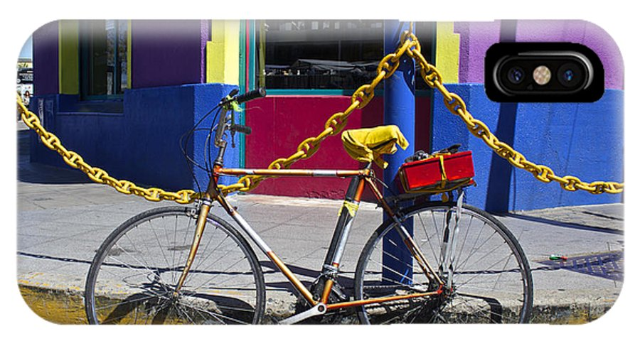 Bicycle IPhone X Case featuring the photograph Bike La Boca by Venetia Featherstone-Witty