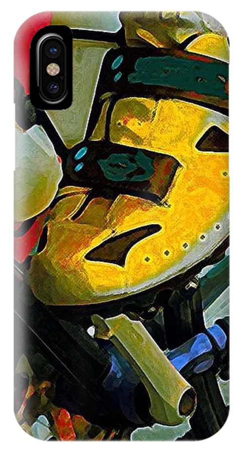 Bicycle IPhone X Case featuring the painting Biker Boy Foot by Dale Moses