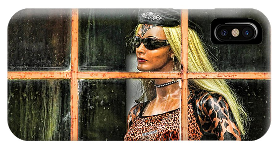 Mannequin IPhone X Case featuring the photograph Biker Chick by Clare VanderVeen