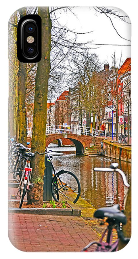 Travel IPhone X Case featuring the photograph Bikes And Canals by Elvis Vaughn