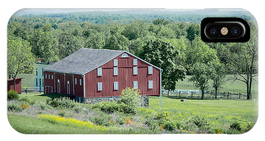 American Civil War IPhone X Case featuring the photograph Bilgerville Road Farm 7d02271 by Guy Whiteley