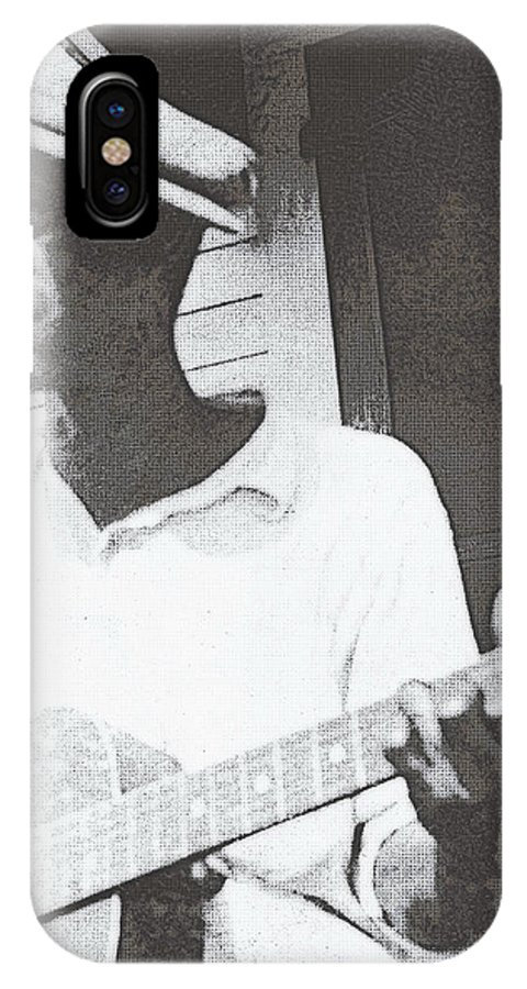 Guitar IPhone X Case featuring the photograph Bill Tatnall 1935 by Daniel Hagerman