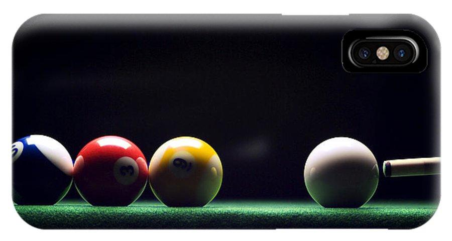Billiard IPhone X Case featuring the photograph Billiard by Tony Cordoza