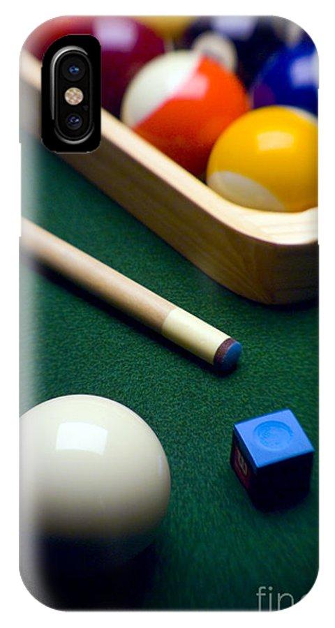 Billiard IPhone X Case featuring the photograph Billiards by Tony Cordoza