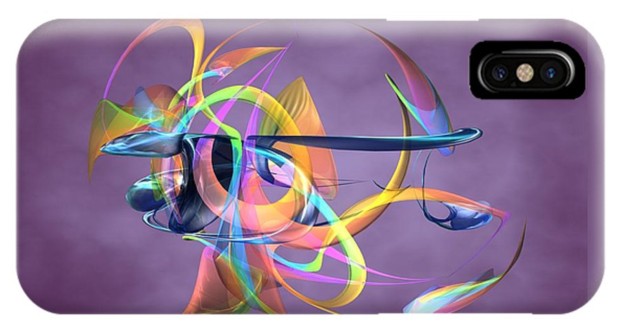 Abstract Art Canvas Prints IPhone X Case featuring the digital art Bird-of-paradise - Abstract by Louis Ferreira