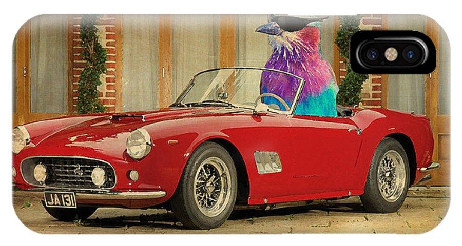 Bird On Ferrari 250 Gt Swb California Spyder 1960 Iphone X Case