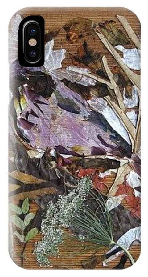 Bird Scrub Joy IPhone Case featuring the mixed media Bird Scubjoy by Basant Soni