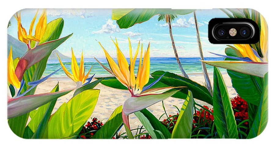 Birds Of Paradise IPhone Case featuring the painting Birds Of Paradise by Steve Simon