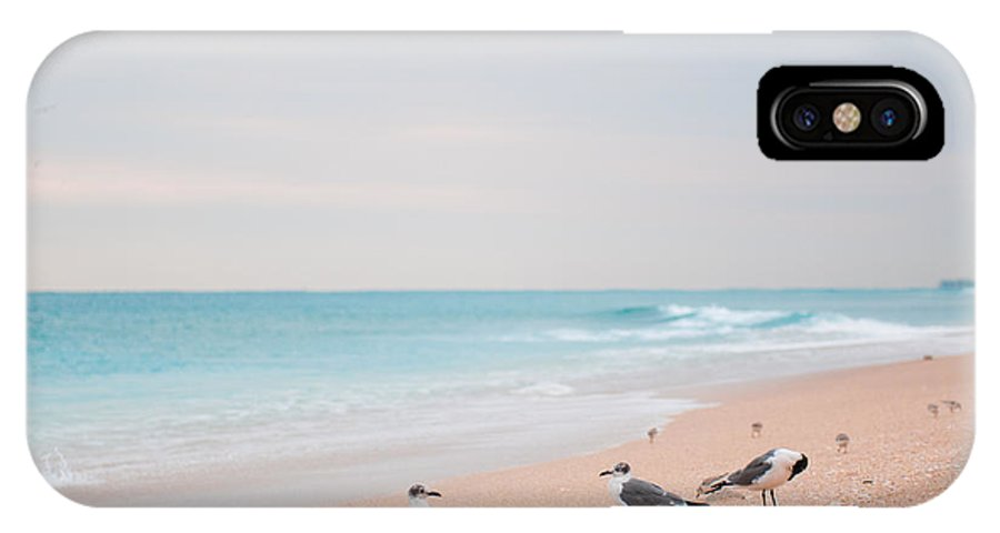 Beach IPhone X Case featuring the photograph Birds On The Beach 0003 by Terrence Downing