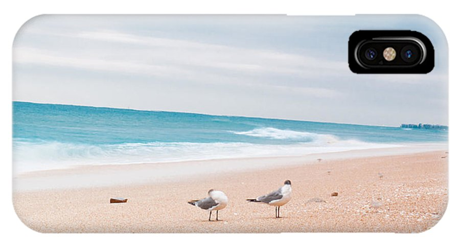 Beach IPhone X Case featuring the photograph Birds On The Beach 0004 by Terrence Downing