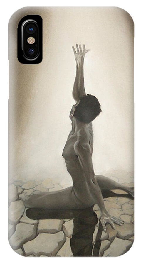 Adam IPhone X Case featuring the painting Birth Of Adam by Jane Simpson