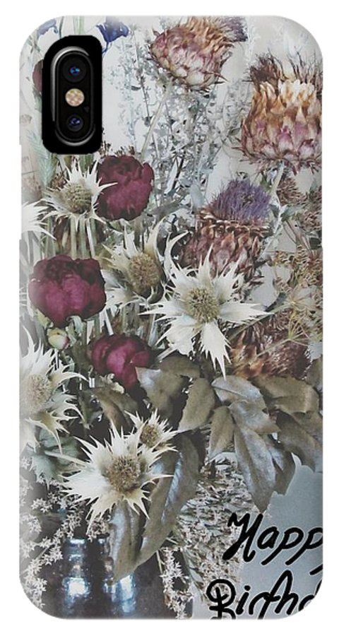 IPhone X Case featuring the photograph Birthday Flowers by Fran James