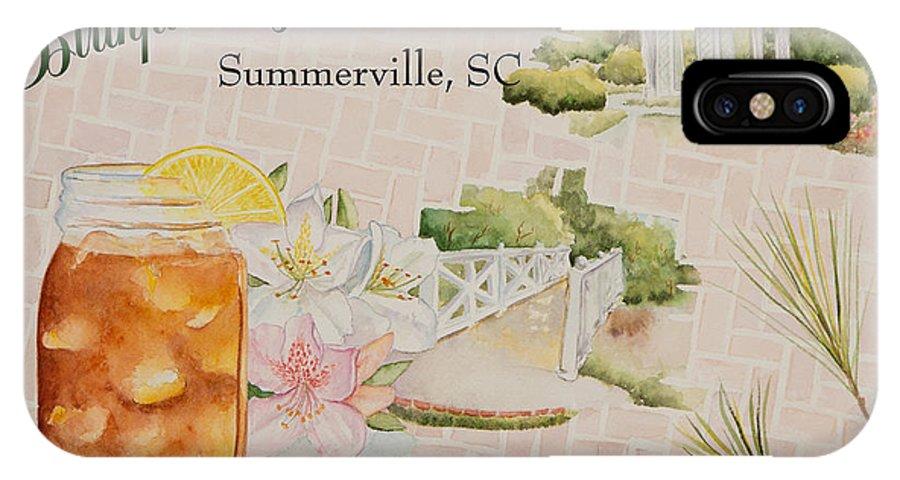 Sweet Tea IPhone X Case featuring the painting Birthplace Of Sweet Tea by Deborah King - DKS Studio