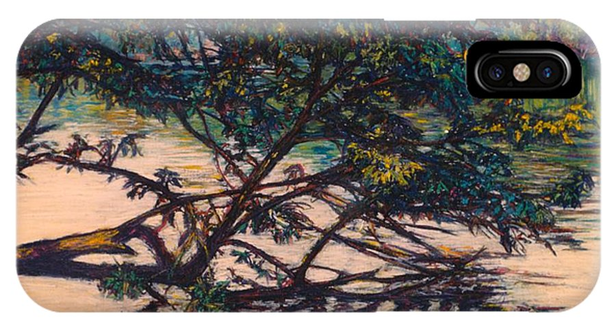 Landscape IPhone X / XS Case featuring the painting Bisset Park Original by Kendall Kessler