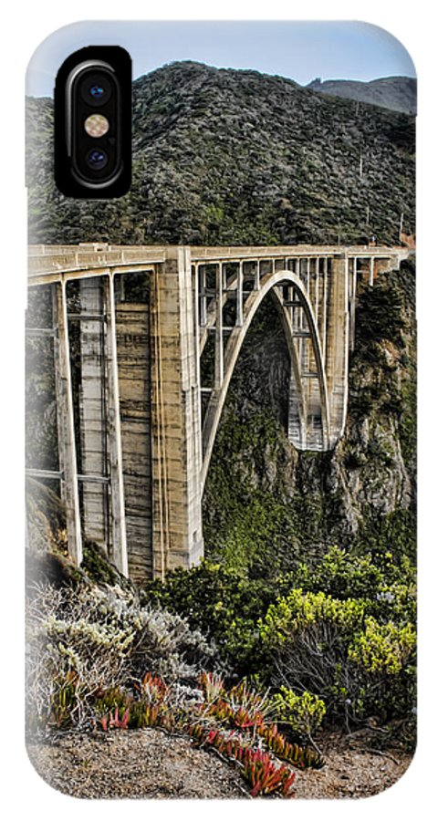Bixby IPhone X Case featuring the photograph Bixby Creek Bridge by Heather Applegate