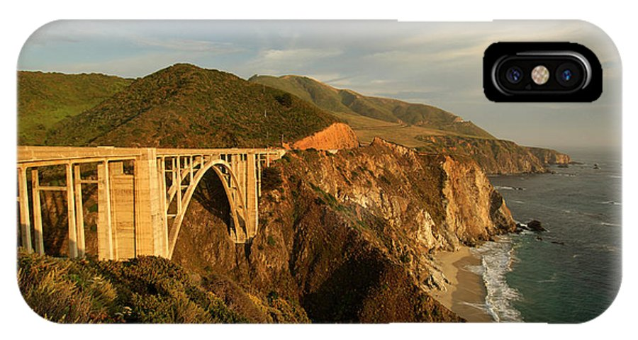 Big Sur IPhone X Case featuring the photograph Bixby Creek Bridge In Big Sur by Christian Heeb