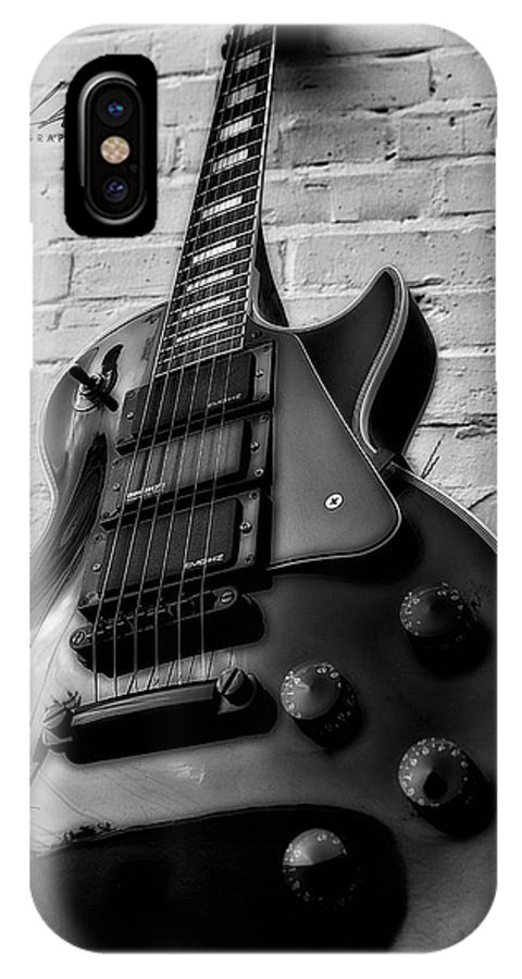 Guitar IPhone X Case featuring the photograph Black And Blues by Allen Gresham