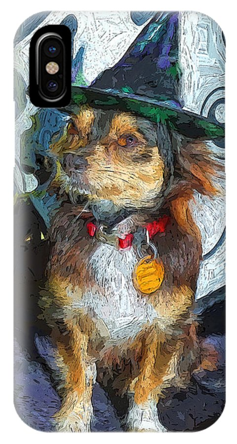 Black And Tan Chihuahua IPhone X Case featuring the photograph Black And Tan Chihuahua - Such A Good Little Witch by Rebecca Korpita